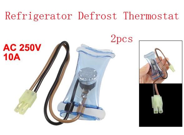 1PCS Refrigerator Defrost Thermostat NO 14 Celsius Degree AC 250V 10A 3 Wire