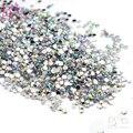 Belleza 10000 unids/lote 1.5 mm cristal piedras medio círculo haba del arte del clavo Rhinestone y decoración 3D Nail Art decoración manicura
