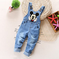 Free shipping 2017 spring autumn child cotton demin rompers, baby boys bib pants