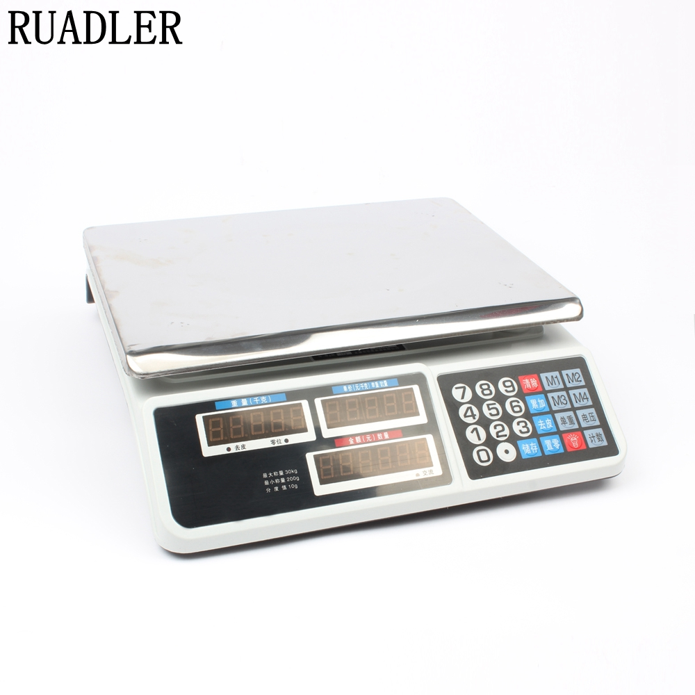 New 30kg electronic pricing scales electronic scales weighing scales of fruit 30kg high accuracy electronic price computing weighing scales digital hanging hook crane scale