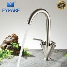 Fyparf кухонный кран для холодной и горячей воды раковины на