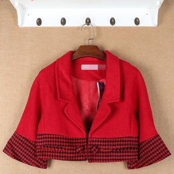 Ladies Fashion Short Sleeve Casual Jacket women blazer red female blazers suit small jacket coat female sprint autumn