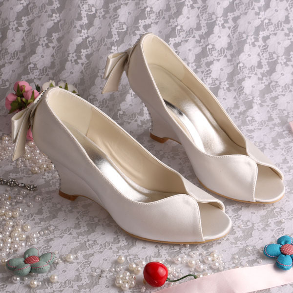 Popular Ivory Wedge Bridal Shoes-Buy Cheap Ivory Wedge Bridal ...