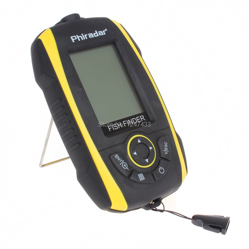 Portable sonar fish finder 240ft 73m depth audible fish for Fish finder depth finder