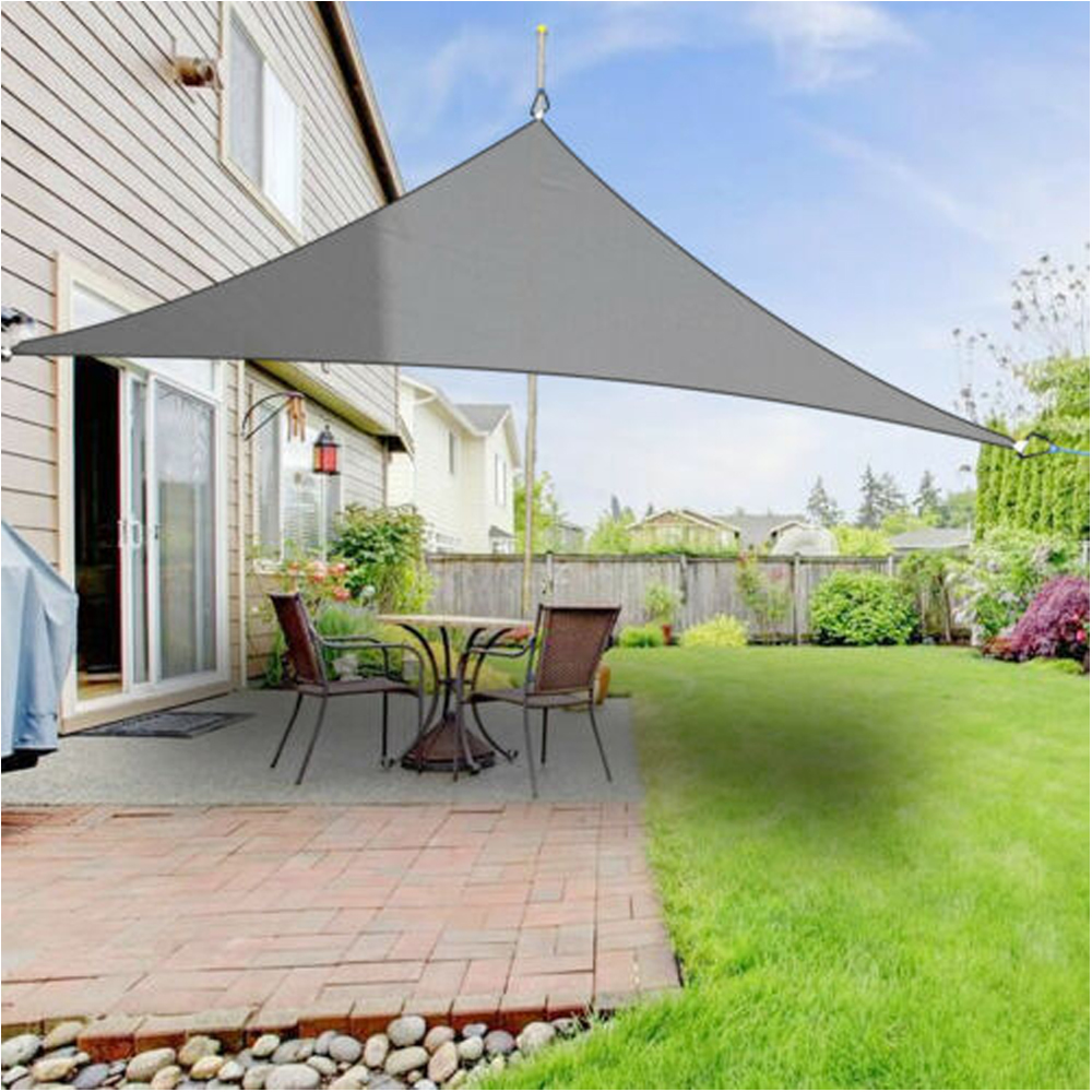 Waterproof Shade Sail Anti-UV Sunshade Net Outdoor Garden Sunscreen Sunblock Shade Cloth Net Plant Greenhouse Cover Car Cover XL