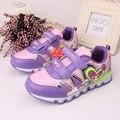 2016 Nuevo Cuero de LA PU Zapatos de Los Niños Zapatos de Las Muchachas, a prueba de agua Zapatos de Los Niños Zapatillas de Deporte, Chaussure Enfant, Para Las Muchachas, zapatos Tenis Infantil