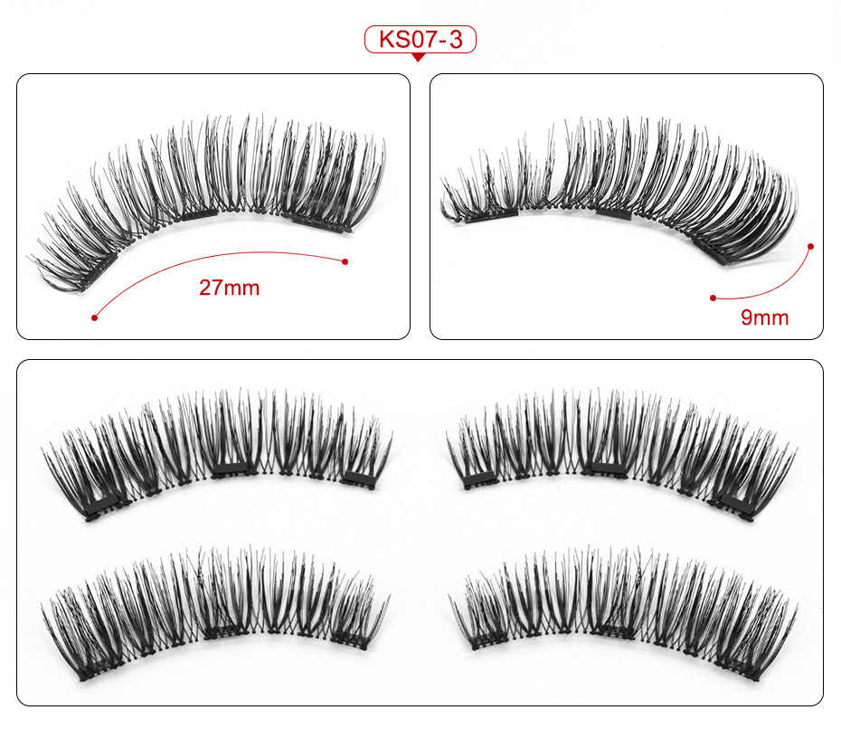 b6a8282b0b7 ... VICILEY 3 Magnets 3D Magnetic Eyelashes Natural Long Magnetic False  Eyelash Handmake Magnet Eye Lashes Makeup
