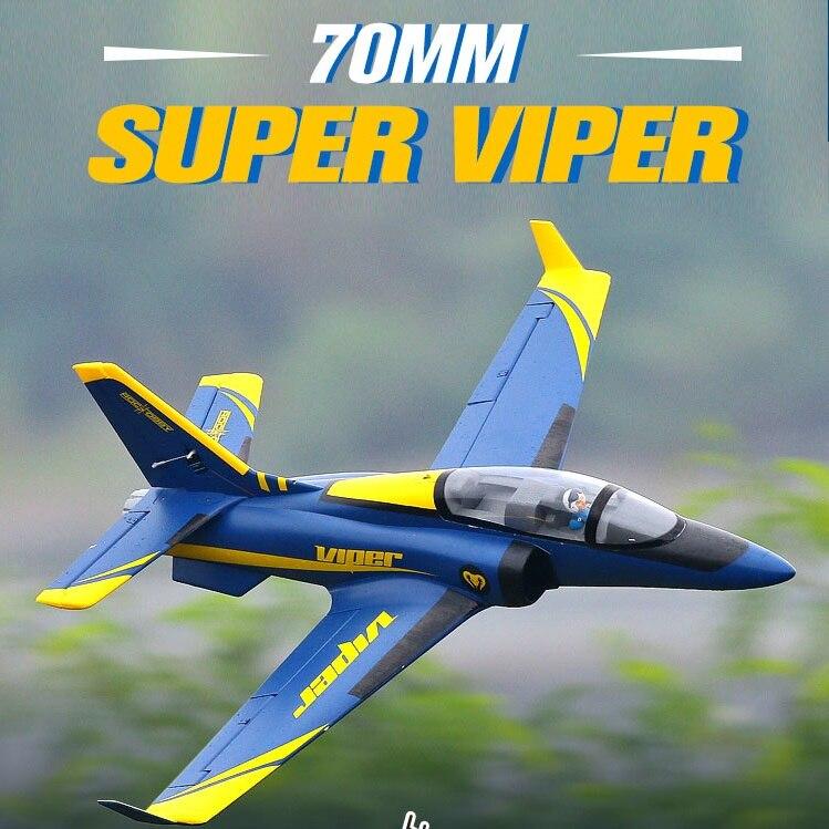 FMS 70mm Ventilateur Soufflant EDF Super Viper Jet Formateur Bleu 6 S OEB avec Rétracte PNP RC Avion Passe-Temps modèle Avion Avion Avion