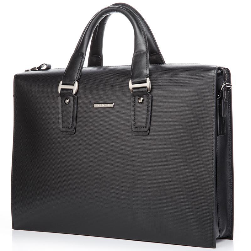 99f75fc457142 Handbag Herren T8203 Leder Portfolio Small Black Business Handtasche  Klassische Aktentasche Big Schwarz 6 Männer Schulter ...