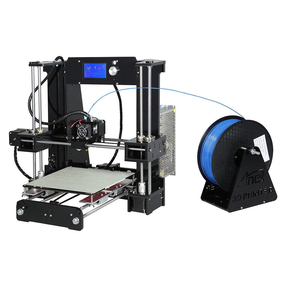 Chinois 3D Imprimante Fournisseur De Haute Précision Reprap Prusa i3 Bureau Anet A6 DIY 3D Imprimante Kit D'impression Grand Taille 220*220*250mm