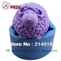 Free DHL Shipping Wholesale Goat Silicon Soap Mold No Odor No Oil Stains Cake Decoration Mold