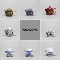 1PCS Hot Sale WIZAMONY Hand Painted Teapot 2 Piece Set Chinese Porcelain High Quality Jingdezhen Ceramic