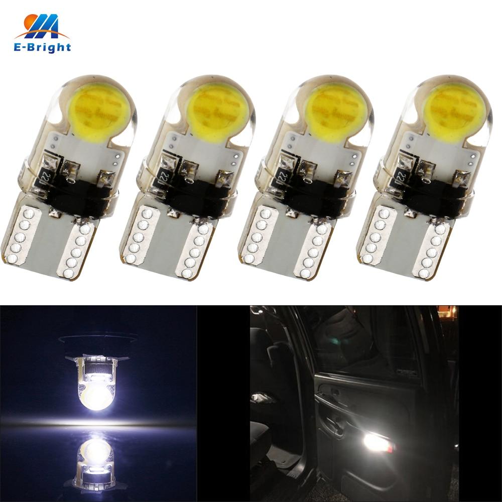 Ym E Bright 10x T10 194 168 W5w 12v 5630 2 Smd Led Light Clearance Lampu Cob Silica Silokon Super Terang Dc 4 Pcs 6 Pcb Nonpolarity