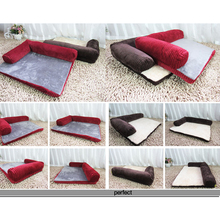 Thickened Pet Dog Bed Sofa Mat Soft Detachable Design Resistance To Bite Large Dog Cat Bed Indoor Pet House For Large Dog