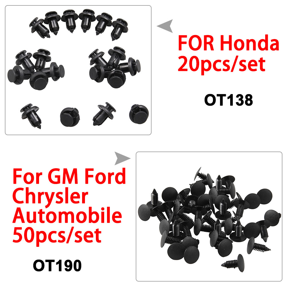 50x Plastic Fastener Clip Ford Universal Panel Bumper For Cadillac STS 2008