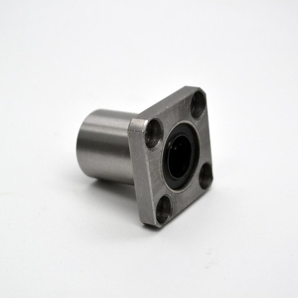 2pcs LMK30UU 30mm x 45 mm x 64 mm 30 mm square flange ball bearing bush for 30mm linear guide rail rod axis cnc diy 1 piece bu3328 6 6 33 27 5 29 5 mm z25 guide rail u groove plastic roller embedded dual bearing