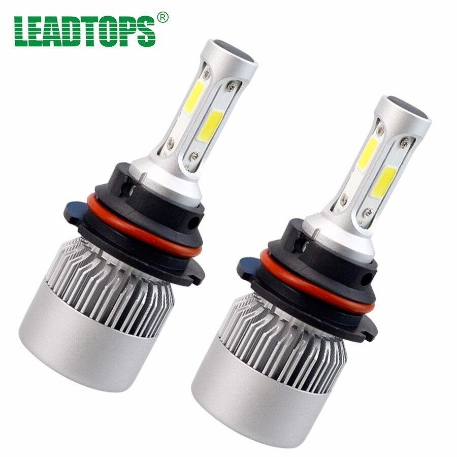 2Pcs Car Headlight bulbs H11 H4 H7 Led Kit H1 9005 Cob Auto Fog Light Car Styling Single/Hi-Lo Beam Pure White For Toyota DJ