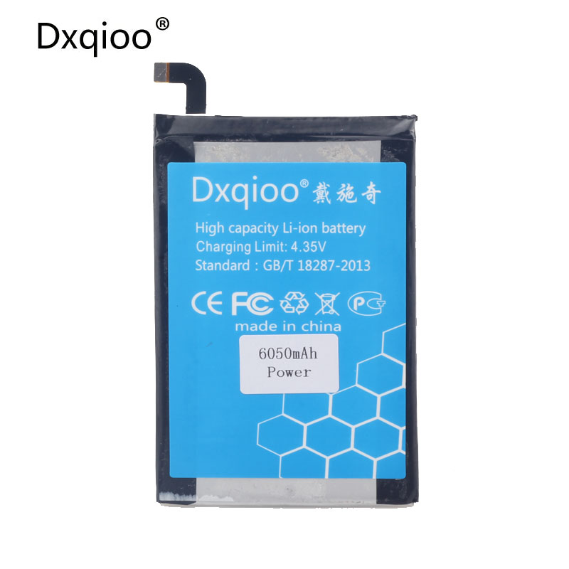 Dxqioo battery fit for ulefone Power 6050mah batteries