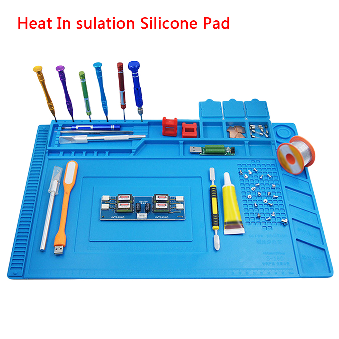 45x30cm Heat Insulation Silicone Pad Desk Mat Maintenance Platform for BGA Soldering Repair Station with Magnetic Section s 160 45x30cm heat insulation silicone pad desk mat maintenance platform for bga soldering repair station with magnetic section