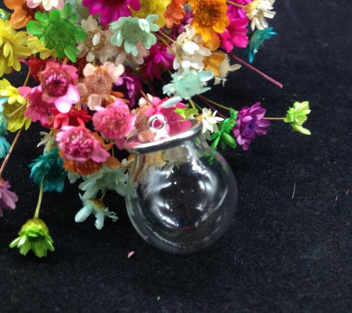 100 zestawów/partia 20*12mm szklana kula podstawa szklana fiolka wisiorek szklana butelka kopuła pokrywa naszyjnik wisiorek urok naszyjnik biżuteria ustalenia w Wisiorki od Biżuteria i akcesoria na  Grupa 3