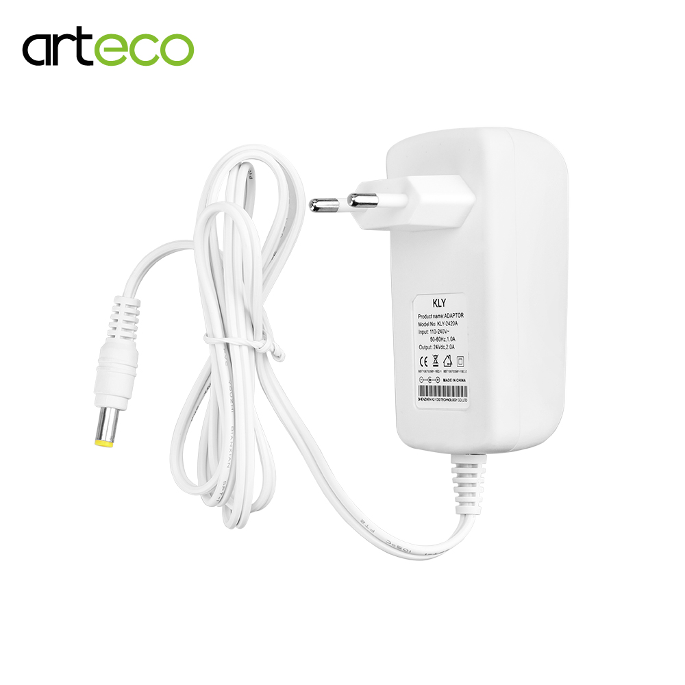 Dc 12 v 1a 2a 3a fonte de alimentação branco capa 24 v transformador adaptador de energia para led string led strip light bar luz led driver ue/eua