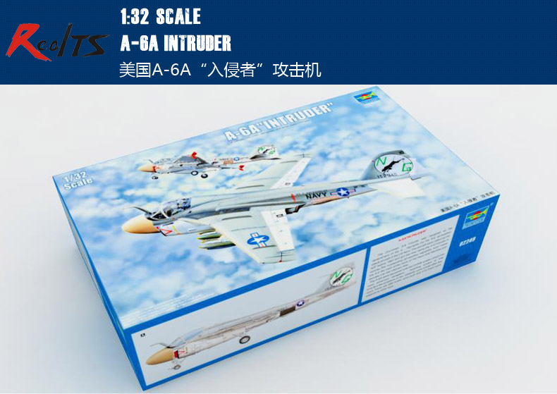 RealTS Trumpeter 1/32 02249 A-6A Intruder Plastic Model Kit realts trumpeter 1 32 03223 russian mig 29a fuicrum model kit