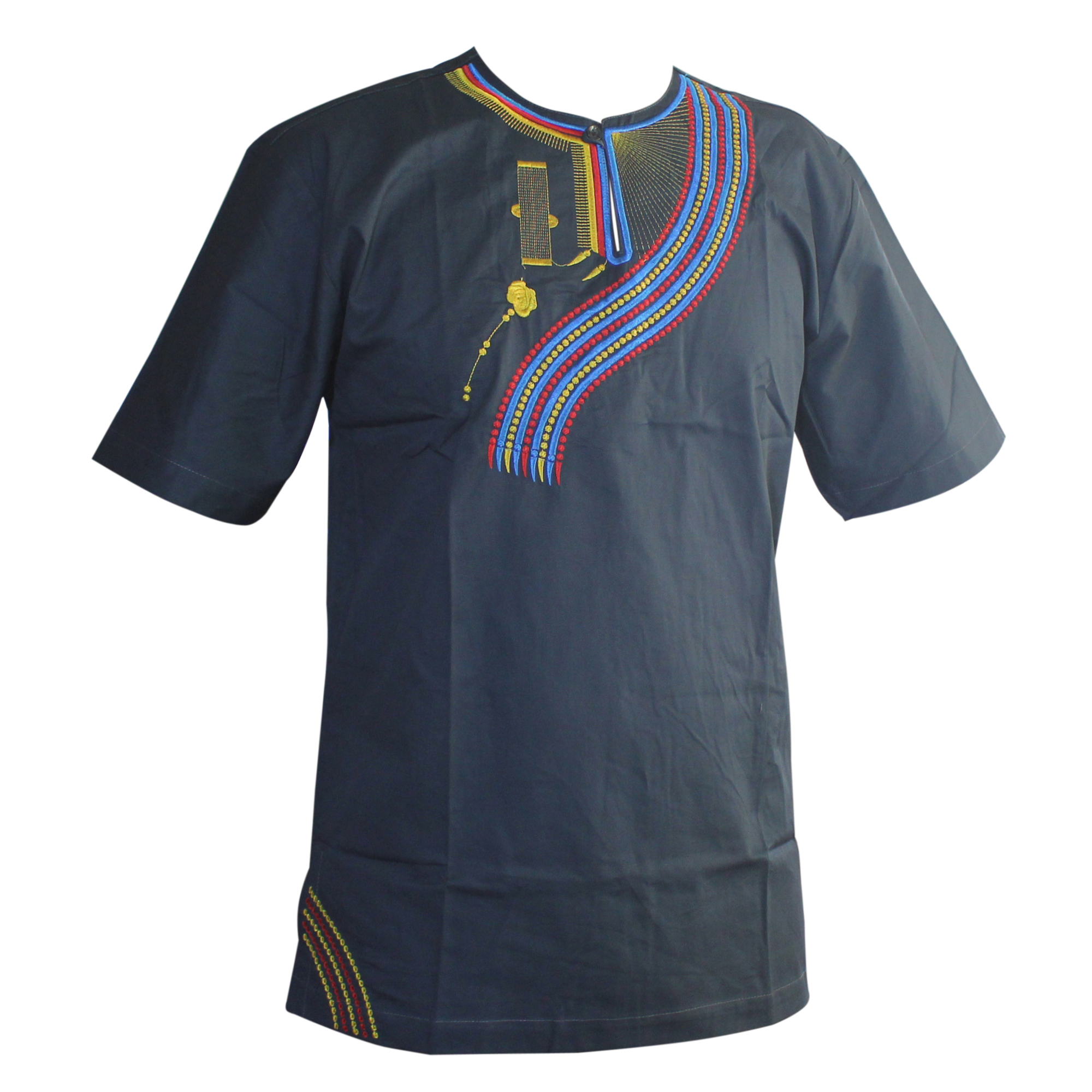 2019 Men camisas hombre Tshirt African Embroidered Ukrainian Ethnic Awesome Colors Traditional Mali Vintage Dashiki Top in T Shirts from Men 39 s Clothing