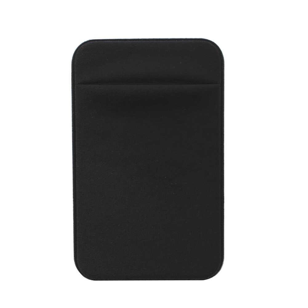 Bolso Titular do Cartão da Carteira Bolsa Removível Vara-on Caso Magro Mini Universal Telefone De Crédito de Volta Adesivo