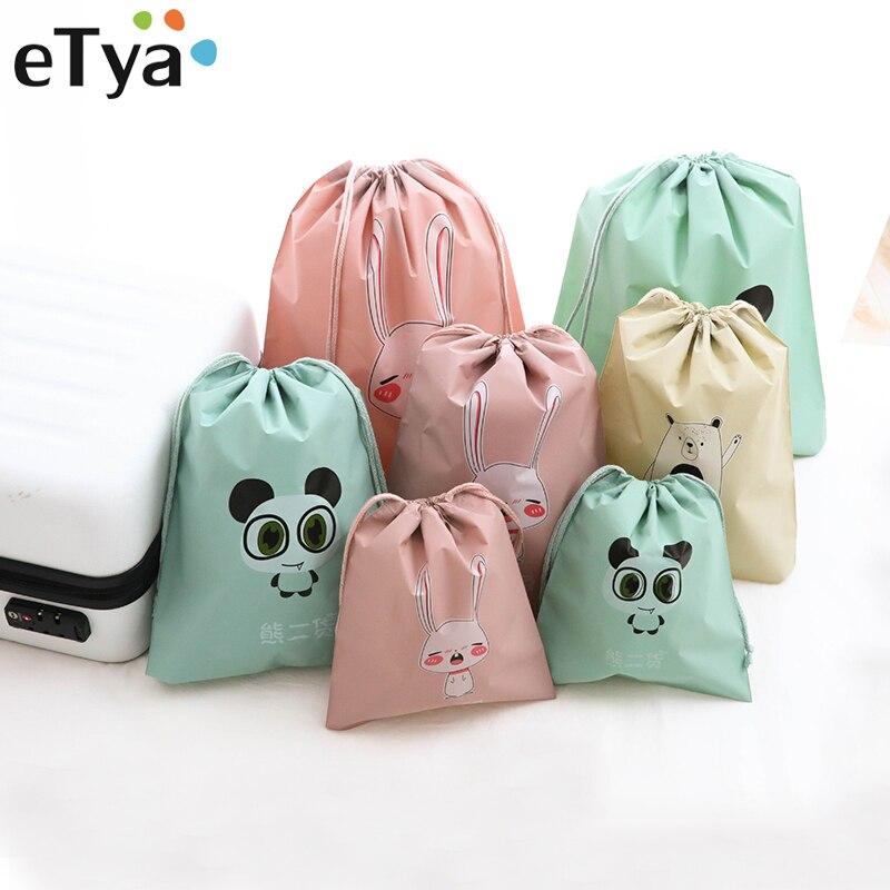 ETya Cartoon Women Travel Cosmetic Bag Unisex Travel Organizer Bag Makeup Bags Washing Toiletry Kits Multi-function Storage Bags