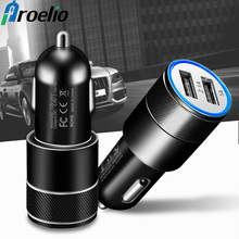 Proelio USB Car Charger For Mobile Phone Tablet GPS 2.1A Fas