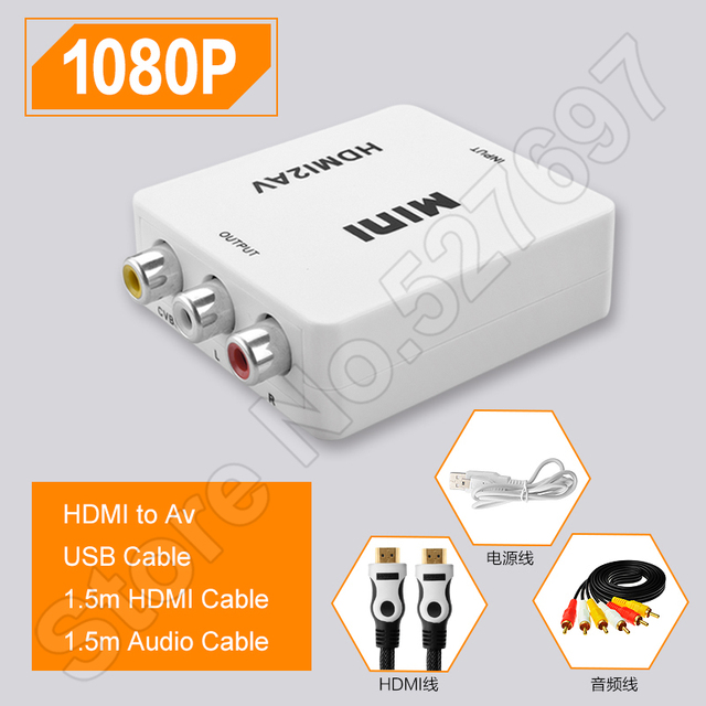 Hdmi to av cable adapter converter monitor hd video interface box to hdmi to av cable adapter converter monitor hd video interface box to old tv conversion cable publicscrutiny Gallery