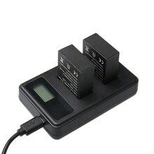 Hero 3 bateria de 3.7 V 1680 mAh Bateria + LED USB Carregador Duplo para Gopro Hero 3 Go pro Sessão 4 K Câmera de Ação Esporte acessórios