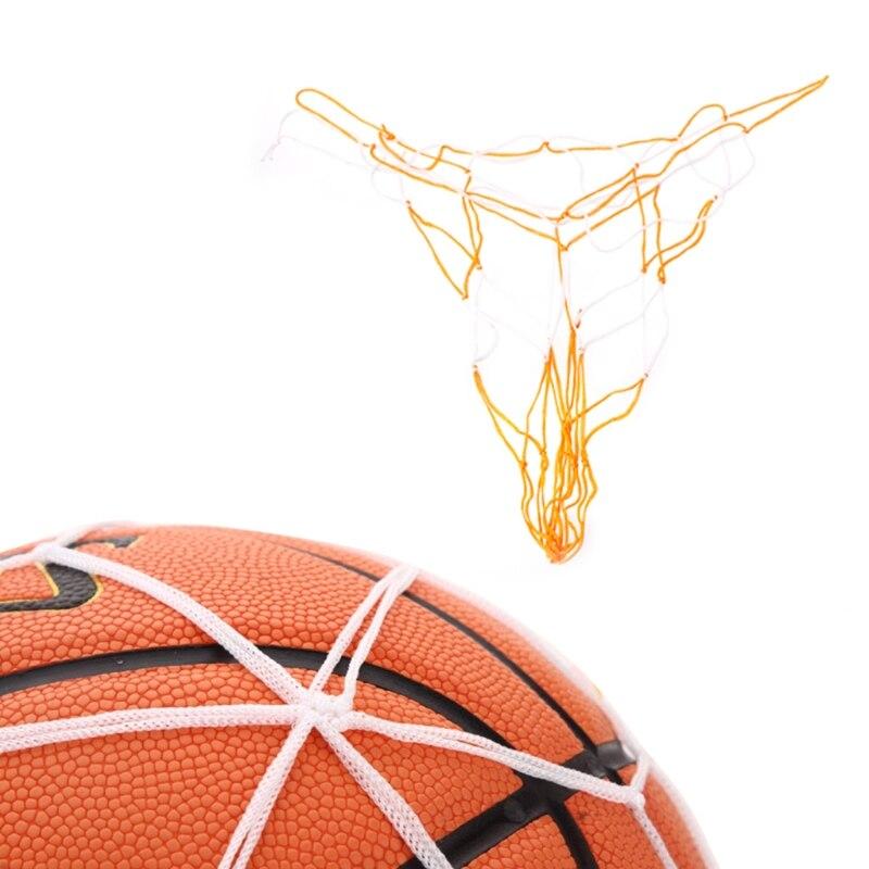 Basketball Hoop Mesh Net Rim Accessory Nylon Ball Catcher Yellow Blue Mix Color