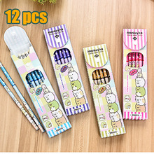 12 pieces HB pencils wooden office school standard pencil for drawing Stationery material students children gifts