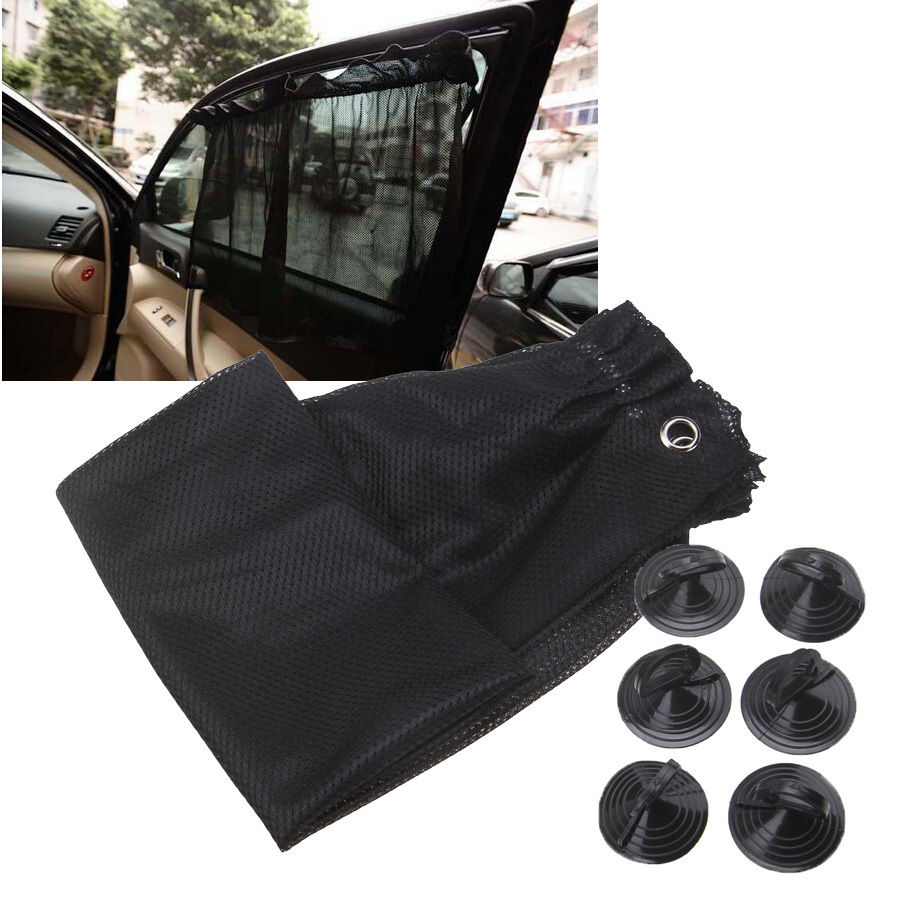 Car interior curtains - Possbay Black Grey Brown Car Sun Shade Side Window Film Curtain Auto Interior Uv Protection Mesh