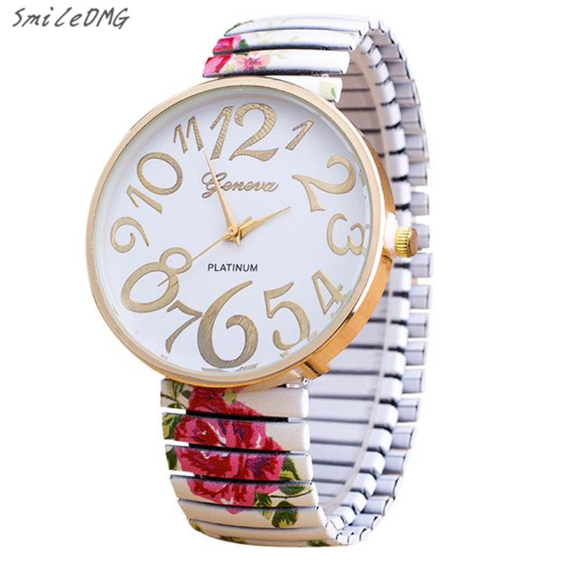 SmileOMG New Hot Marketing Luxury Women Elasticity FlowerShrink Bracelet Quartz Wrist Watch Free Shipping Christmas Gift,Sep 5 ...