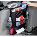 BreaDeep Car Auto Seat Back Organizer with Insulated Cooler Multi Pockets Travel Storage Bags Pouch,Insert Drink & Tissue Holder