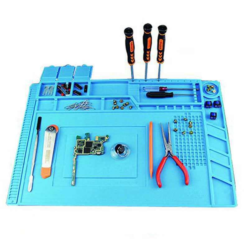 Magnetic Silicone Heat Insulation Soldering Mat Electronics Computer Repair Mat ALI88