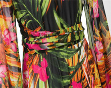 Bohomian Long Sleeve Floral Print Maxi Dress