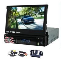 유니버설 1din 자동차 dvd gps 플레이어 7 인치 슬라이딩 디지털 터치 무료
