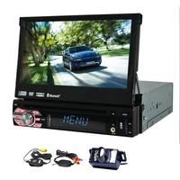 Evrensel 1din araba dvd gps oynatıcı ücretsiz harita ile 7 inç sürgülü dijital dokunmatik kamera autoradio GPS Navigasyon Bluetooth stereo
