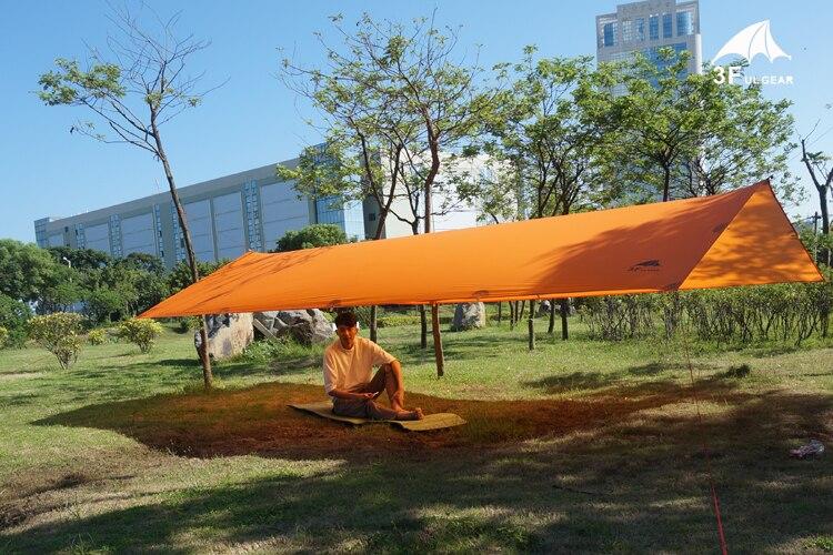 3F Ul Gear Tarps 15D Silicon Tarpe Ultralight Sun Shelter Beach Tent Pergola Awning Canopy Taffeta
