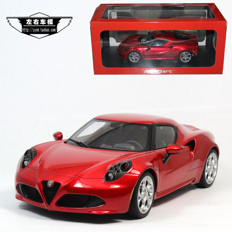 buy brand new autoart 1 18 scale car model toys italy alfa romeo 4c diecast. Black Bedroom Furniture Sets. Home Design Ideas