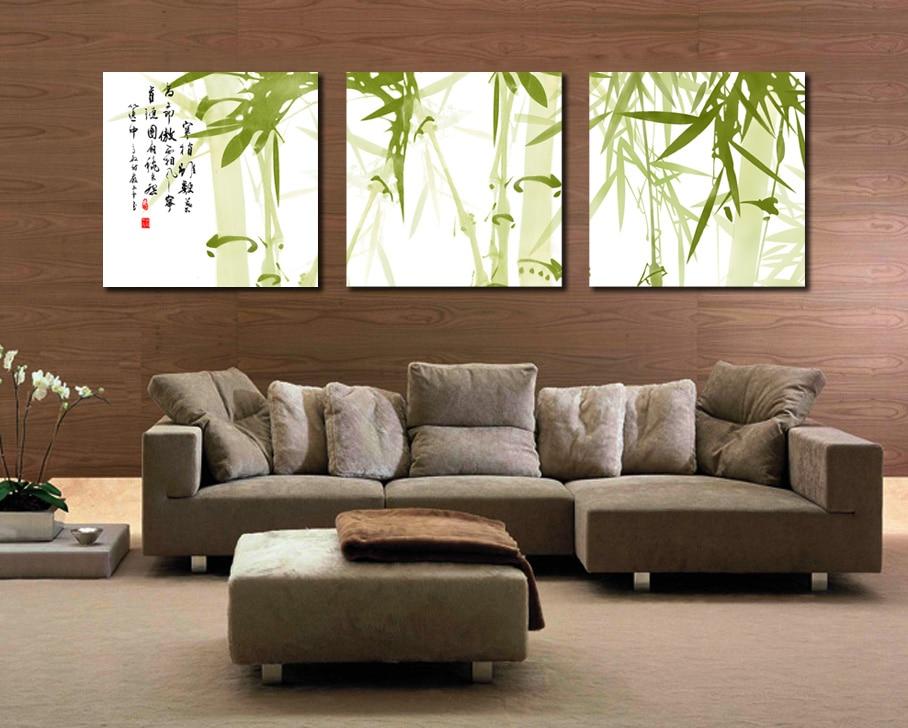 Pintura Para Salas Y Cocinas : U a btf panel moderno impreso pintura de tinta de bambú imagen en
