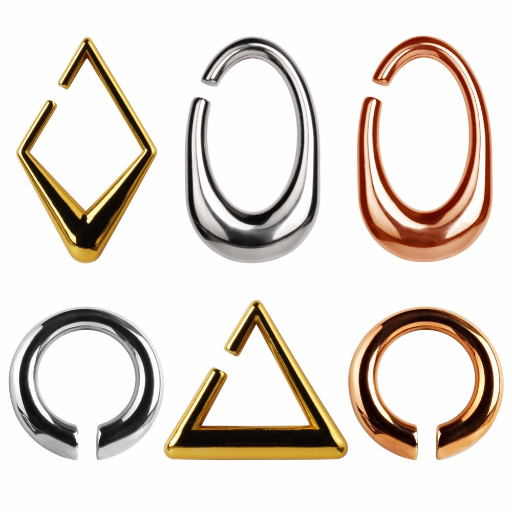 Nuevo Producto pesado oreja 316 L acero inoxidable oreja calibradores piercing túneles cuerpo joyería unids 2 piezas lote par venta