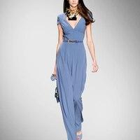 Прямые продажи пояса Регулярный комбинезон Комбинезоны женские комбинезон Новый комбинезон летняя мода тонкий шелк женская подвеска XIA