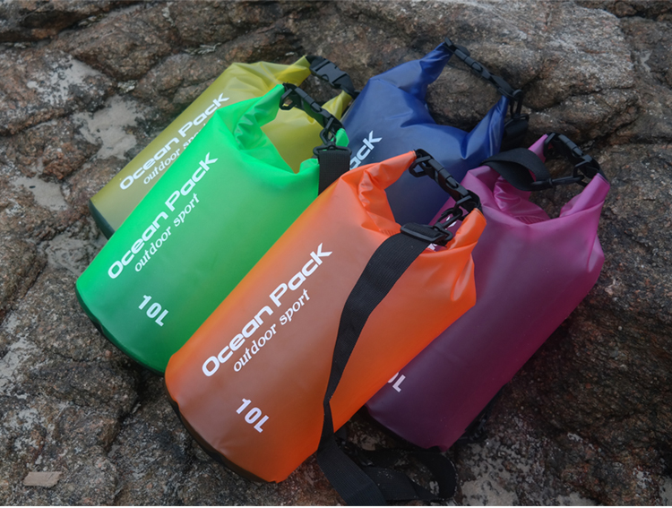 2L 5L 10L 15L 20L Portable Waterproof Storage Dry Bag For Rafting Drifting Canoe Travel Kit Pouch