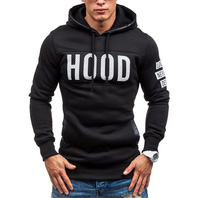 2016 New Arrival High Grade Brand Design Sportswear Men Sweatshirt Male Hooded Hoodies Printed Pullover Hoody