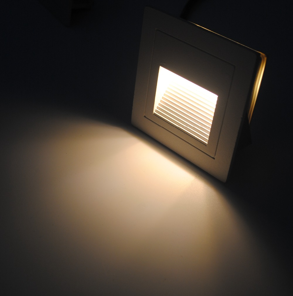 FVTLED 3W LED Light Outdoor Decor Sensor Step board Lamp Square ... for Wall Foot Light  166kxo