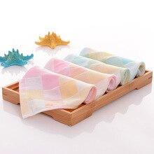 4pcs/lot Cotton Double layer Gauze Kerchief Newborn Baby Square Face Towel Infant Kids Soft Muslin